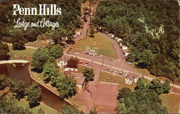 Aerial View Of Penn Hills Lodge And Cottages Analomink Pennsylvania