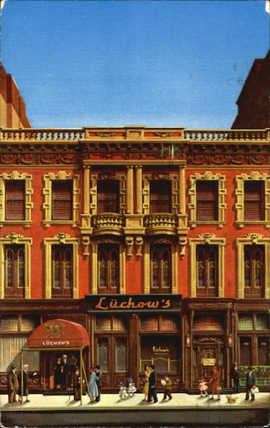 Luchow's Famous Restaurant, 110-112 East 14th Street New York City