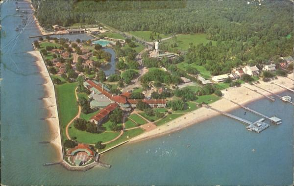 Aerial View Of Grand Hotel Point Clear Alabama