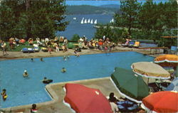 Lakeside Pool At The Lodge Overlooking Beautiful Lake Arrowhead, Lake Arrowhead