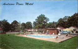 Andrews Pines Motel, U. S. A. Hiway U. S. 67 East