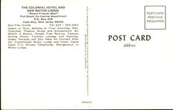 The Colonial Hotel And New Motor Lodge, P.O. Box 338