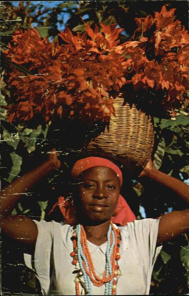 Young Haitian Flower Vendor, Petion-Ville Caribbean Islands