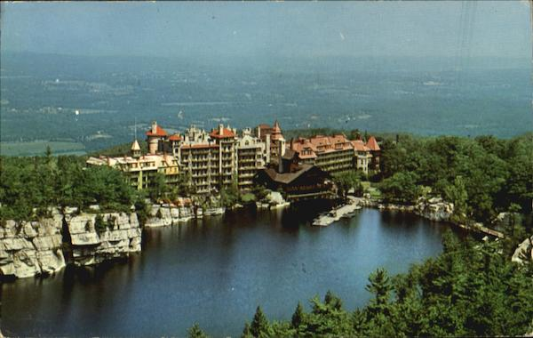 View Of House And Catskills, Lake Mohonk New Paltz New York