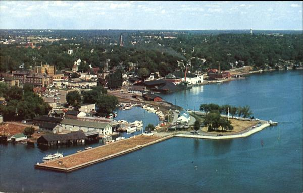 Aerial View Of Brockville Canada Ontario