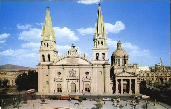 Front View Of Cathedral And Sagrario Metropolitano Mexico City