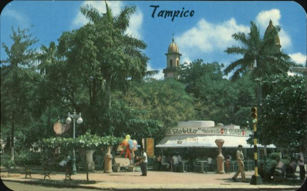 A Corner Of The Main Plaza Of Tampico Mexico