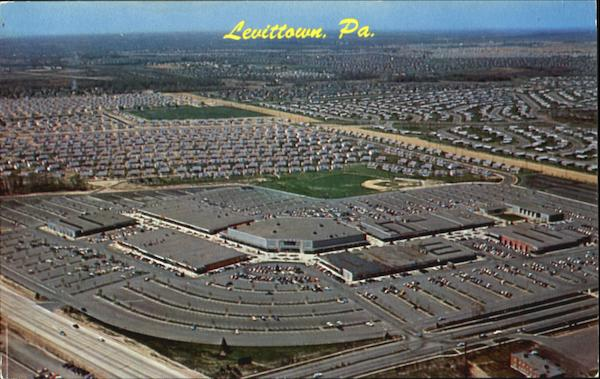 Aerial View Of Levittown Pennsylvania