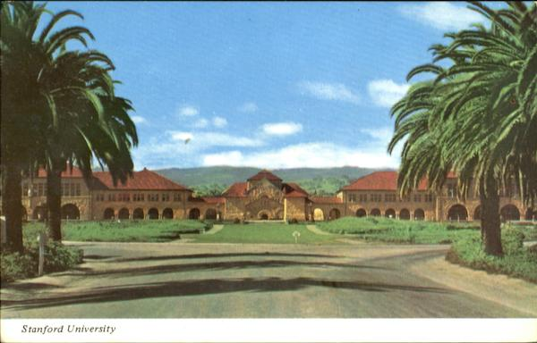 Quadrangle From Palm Grove, Stanford University California