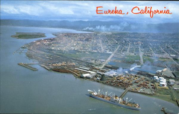 Aerial Of Eureka California