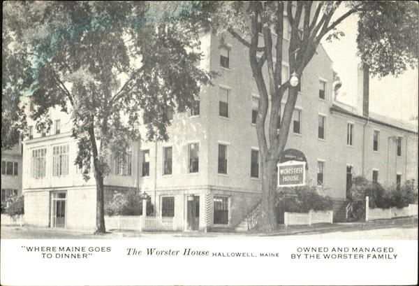 The Worster House Hallowell Maine