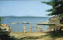 Bathing Beach At Sunset Lodge And Camps, Damariscotta Lake