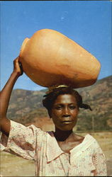 Pottery Vendor, Cap-Haitien Postcard