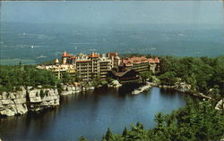 View Of House And Catskills, Lake Mohonk