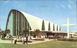 New And Modernistic Church Postcard