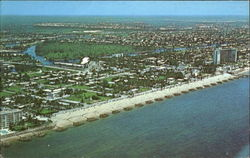 Looking At Deerfield Beach From An Airplane