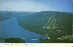 Aerial View Pleasant Mountain And Moose Pond, U.S. Route 302