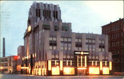 The Syracuse Lighting Company Office Building At Night, Erie Boulevard West at Franklin Street