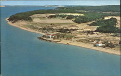 Point Betsie Light From The Air