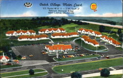 Dutch Village Motor Court, U.S.Routes 40 and 13 - 3 Mi. South of Delaware Memorial Bridge. New Castle, Delaware Large Roo