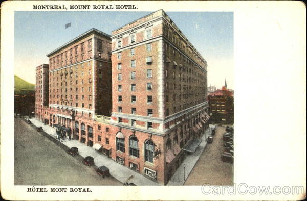 Hotel Mont Royal Montreal Canada Quebec
