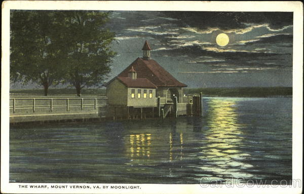 The Wharf By Moonlight, Mount Vernon Virginia