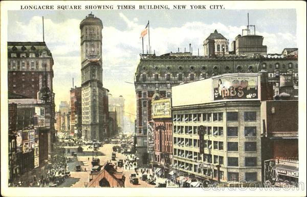 Longacre Square Showing Times Building New York City