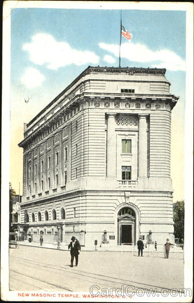 New Masonic Temple, 13th & H Street, N. W. Washington District of Columbia