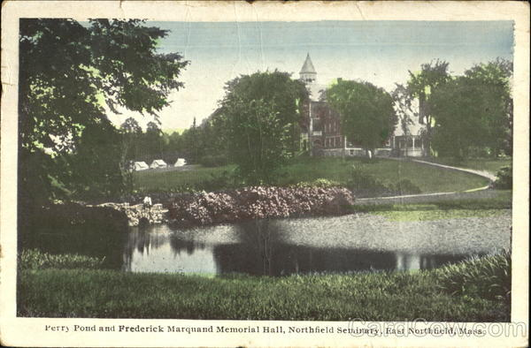Perry Pond And Frederick Marquand Memorial Hall Northfield Seminary East Northfield Massachusetts