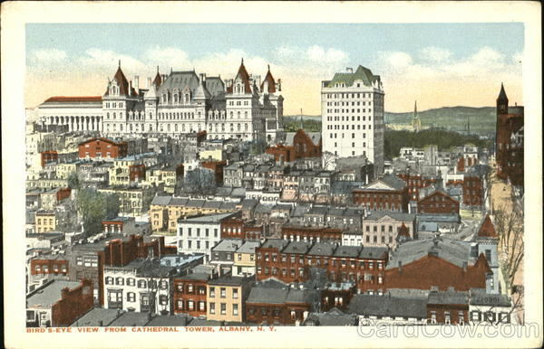 Bird's Eye View From Cathedral Tower Albany New York