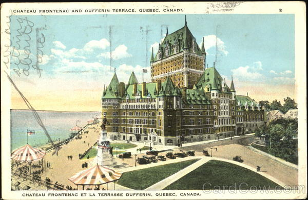 Chateau Frontenac And Dufferin Terrace Quebec City Canada