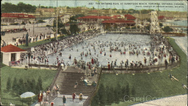 The Bathing Pool At Sunnyside Beach Toronto Canada