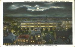Bird's Eye View Overlooking Hemming Park Showing Windsor Hotel Postcard