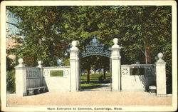 Main Entrance To Common Postcard