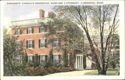 President Lowell's Residence, Harvard University Postcard