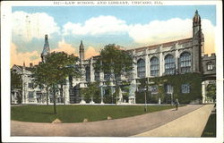 Law School And Library Postcard