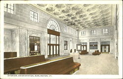 Interior Union Station Postcard