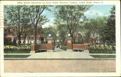 24Th Street Entrance To Iowa State Teachers College Postcard