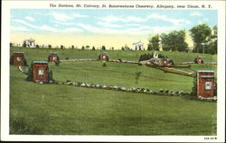 The Station Mt. Calvary St. Bonaventures Cemetery, Allegany Postcard