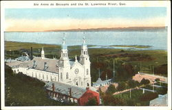 Ste Anne De Beaupre And The St. Lawrence River