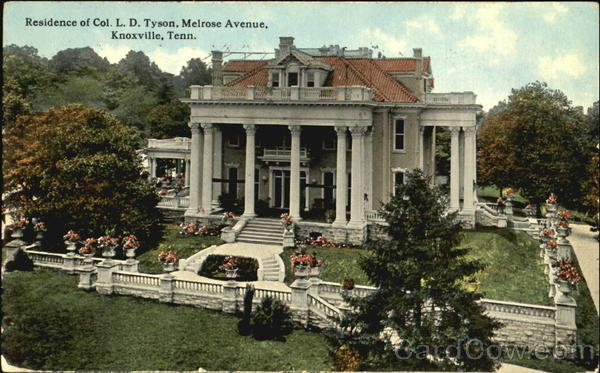 Residence Of Col. L. D. Tyson, Melrose Avenue Knoxville Tennessee