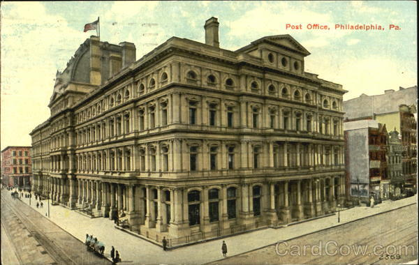 The Post Office, 9th Street between Market and Chestnut Streets Philadelphia Pennsylvania