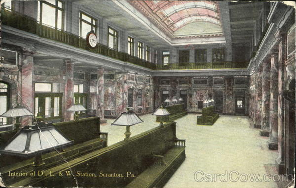 Interior Of D. L. & W. Station Scranton Pennsylvania
