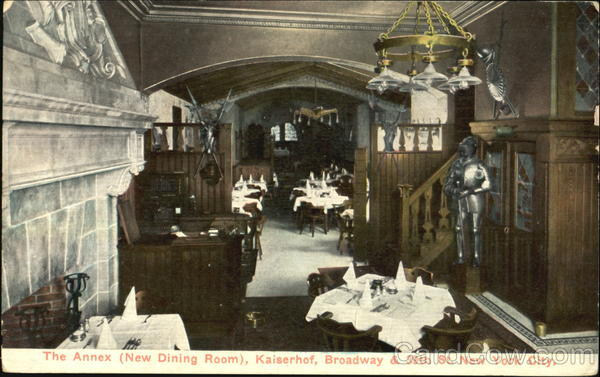 The Annex (New Dining Room), Kaiserhof, Broadway & 39th St. New York City