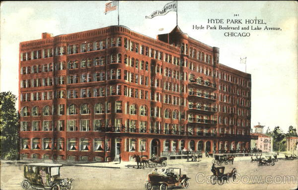 Hyde Park Hotel, Hyde Park Boulevard and Lake Avenue Chicago Illinois