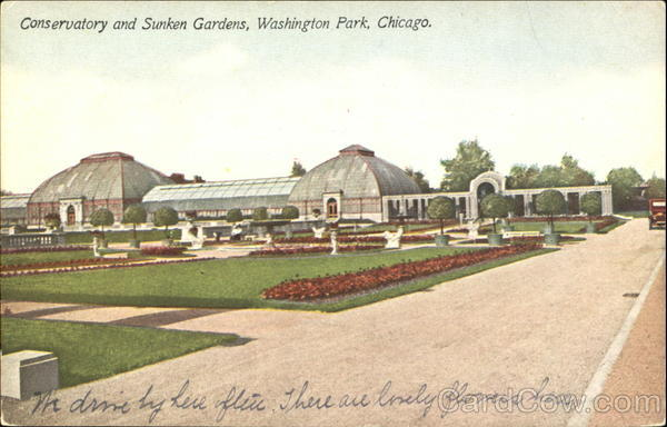 Conservatory And Sunken Gardens, Washington Park Chicago Illinois