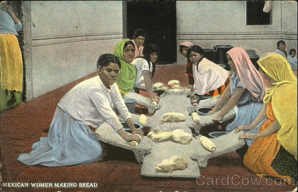 Mexican Women Making Bread Mexico