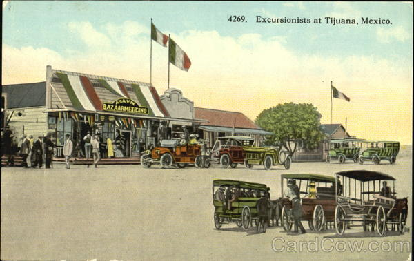 Excursionists At Tijuana Mexico