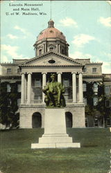 Lincoln Monument And Main Hall, U. of W Postcard