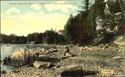 Scene Along The Shore In Queen City Park Postcard